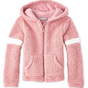 The Children's Place Girls' Sherpa Hoodie 4T